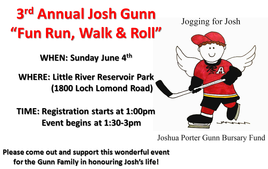 "3rd Annual Josh Gunn ""Fun Run, Walk & Roll"" 2017"